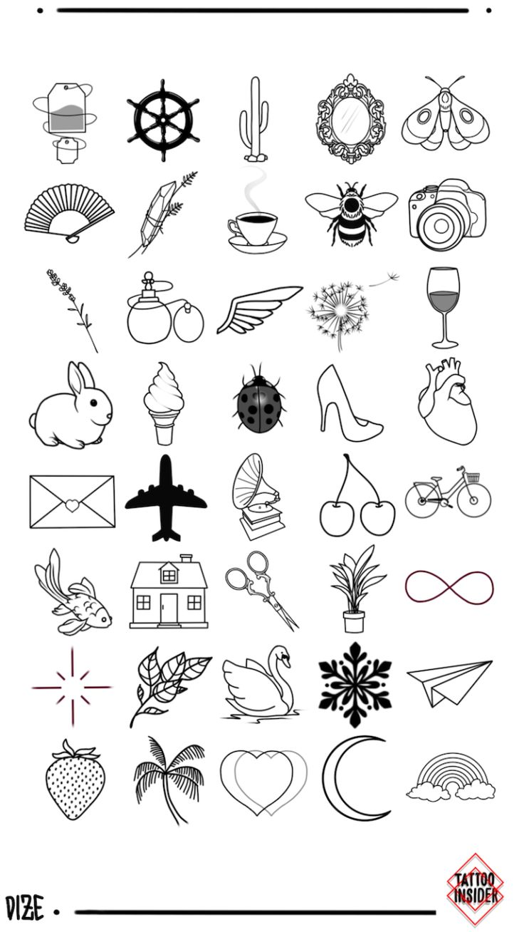 Татуировки маленькие в картинках