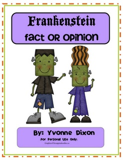 Free Frankenstein Facts or Opinions Sorting Center