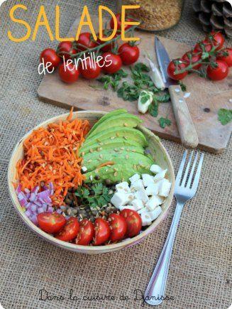Salade de lentilles vertes {vegan}