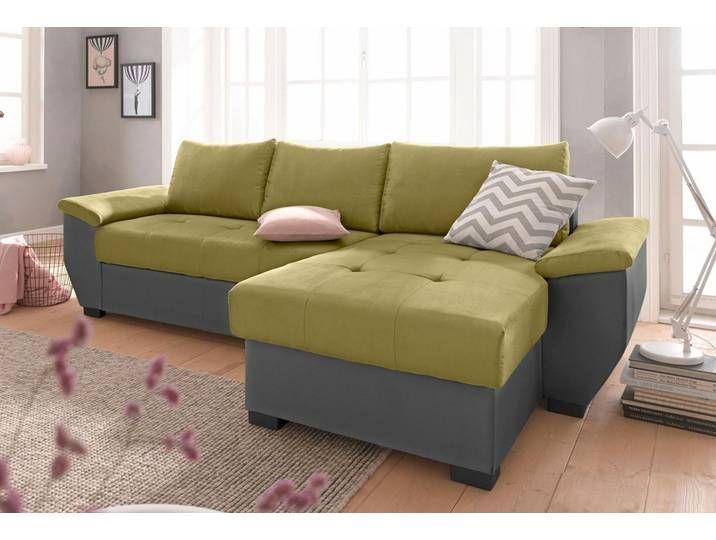Cotta Ecksofa Grun 248cm Recamiere Rechts Fsc Zertifikat Fsc Modern Couch Couch Sofa