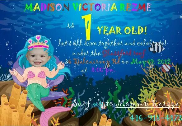 Her 1 year old undr the sea theme party