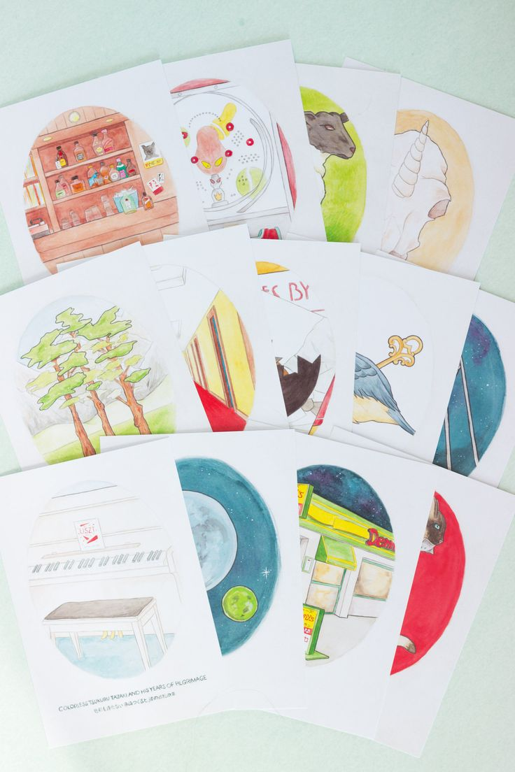 Love Haruki Murakami's imaginative, surrealist tales? Popped into a frame these watercolour art prints of his novels are the perfect way to brighten up a literature geeks walls | Book Lover Gift | Wall Decor | Japanese Literature | Bibliophile | Etsy