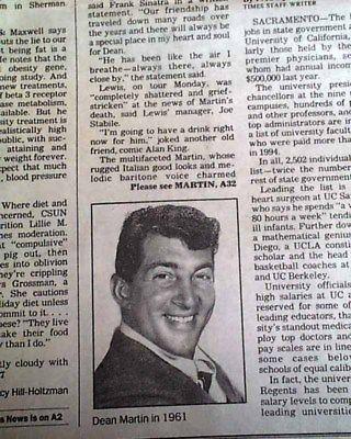 Dean-Martin-cantante-actor-comediante-amp-Jerry-Lewis-Duo-fama-muerte-1995-la-periodico #DeanMartin