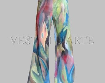 HAND PAINTED JEANS Plus size clothing plus size pants mens jeans bell bottom…