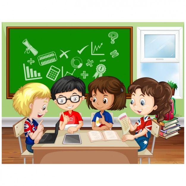 Niños Estudiando En El Colegio | Niños estudiando, Imagenes de ...