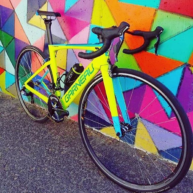 Dream in color. #dreamfactory #garneaucustom #Repost @megafoley ・・・ Pretty stoked with my new bike. Especially because it matches my @hyperthreads kits
