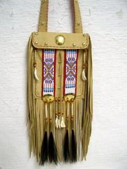 Native American Large Elk-Hide Handbag