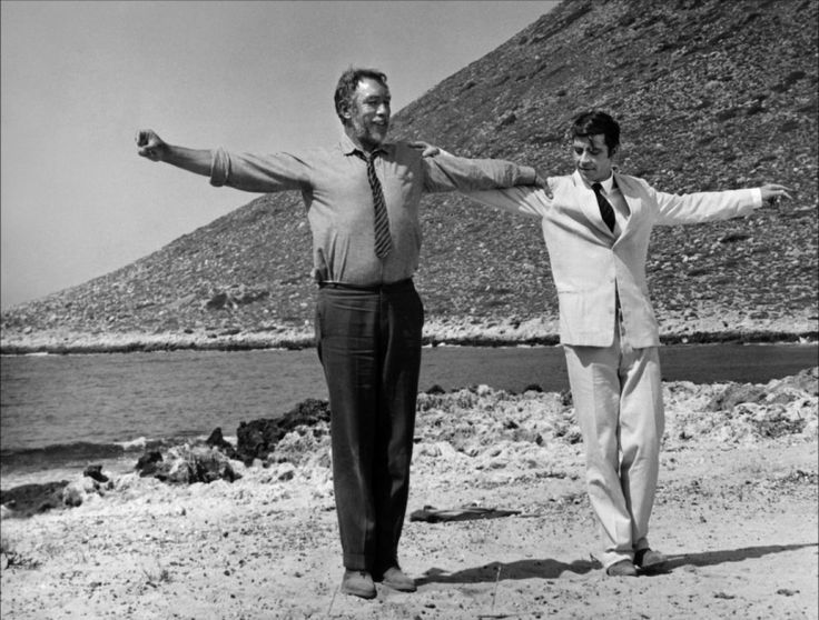 • Sirtaki • Zorba the Greek, 1964 • Alan Bates & Anthony Quinn. One of my all time favorite movies. Oh and one of my all time favorite movie soundtracks, too.