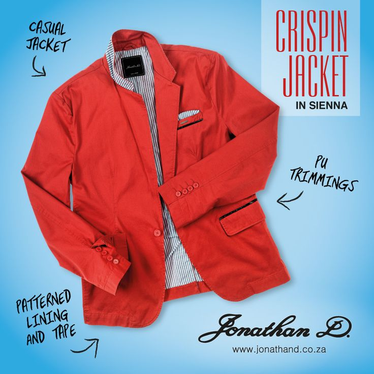 Introducing Jonathan D's Crispin Jacket. Made from a cotton fabrication, this on-trend casual jacket brings the laid-back luxe thanks to its fitted cut, classic lapel, collar and pocket detailing. Carefully crafted with a striped fabric lining, the jacket also features floral inner tape and comes in a summer-ready sienna colourway.