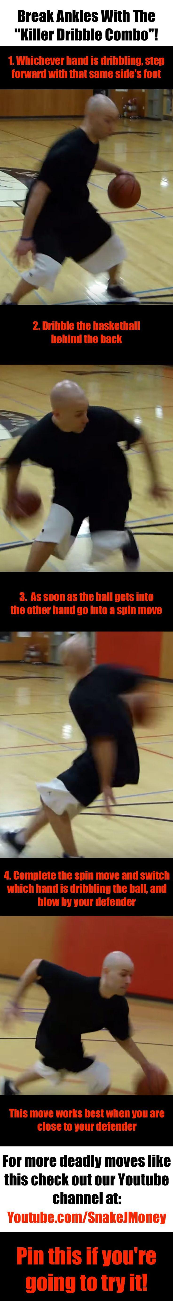 """Ankle breaking """"killer dribble combo""""! #basketball #ballislife"""