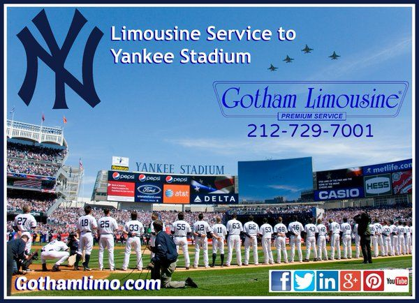 NY Yankees limo service from Gotham Limousine
