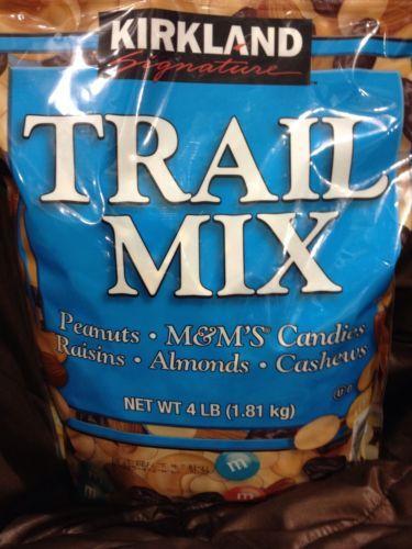 Kirkland Siganture Trail Mix Oeanuts Raisins M&MS Cashews Almonds Nuts 4LB Bag Find Me At www.secondhanddelights.com