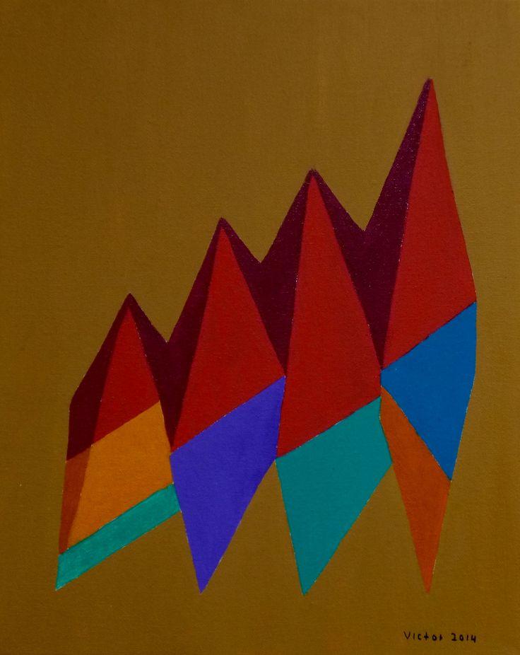 Abstrakt 386, olja på duk.Abstract 386, oil on canvas.