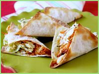 Saw this recipe for Hungry Girl Sassy Wonton Tacos on her show and they looked yummy!  Plus, it's only 2 points plus for two of them!