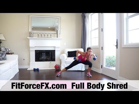 FitForceFX.com Full Body Shred Strength Workout - YouTube