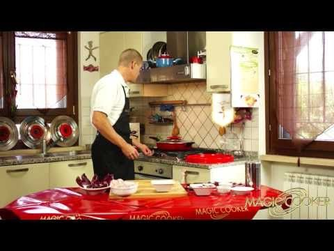 91 Le Sovracosce di pollo aglio olio pancetta e Radicchio cucinate da Dario con Magic cooker - YouTube