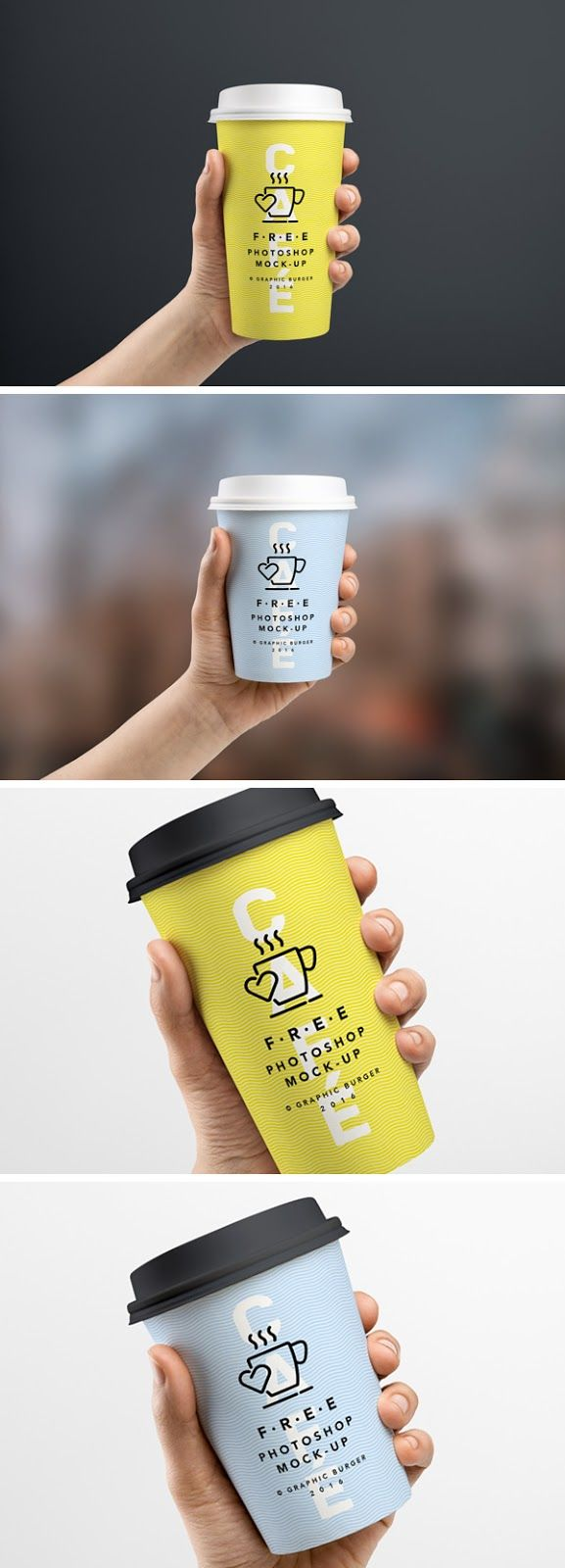 Taza de café en la mano MockUp - IC Diseño Grafico