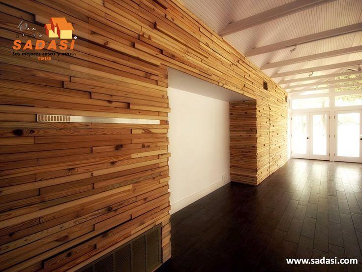 #decoracion LAS MEJORES CASAS DE MÉXICO. La madera también puede ser un material para revestimiento 3D de las paredes. Éste se compone principalmente de varias tablas de madera con diferentes anchos y profundidades que también le brindarán un aislamiento acústico y térmico por su naturaleza. En Grupo Sadasi usted puede ejercer su crédito INFONAVIT o FOVISSSTE, para adquirir su casa en nuestros desarrollos. informes@sadasi.com