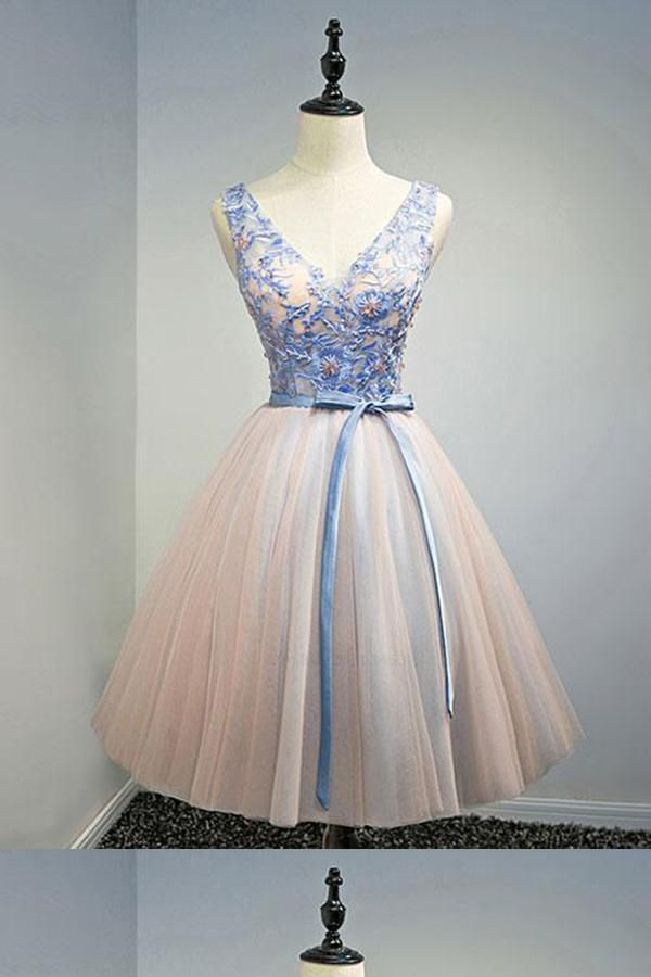 821bc4ae104 V-neck Homecoming Dress  VneckHomecomingDress