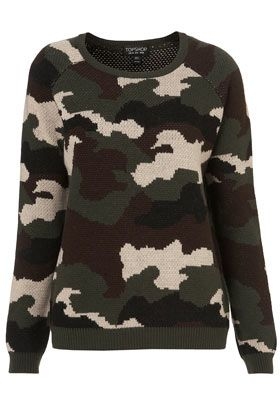 Knitted Camoflage Jumper