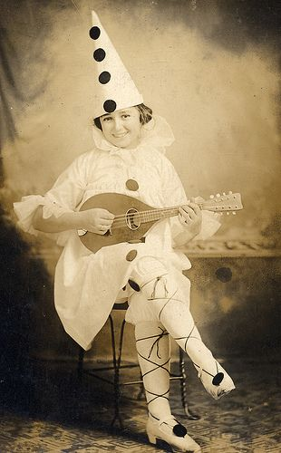 Vintage Halloween costume photograph