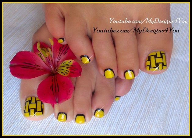Woven Toenail Art Design by MyDesigns4you from Nail Art Gallery