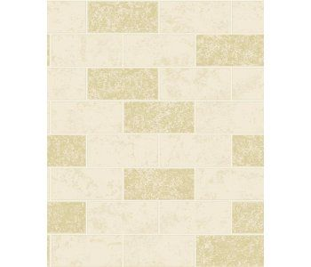 Cream Glitter Brick Kitchen And Bathroom Wallpaper