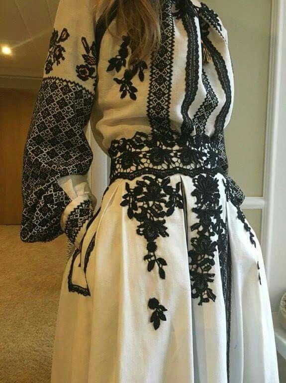 Embroidery detail is amazing..Ukrain Fashion Week.