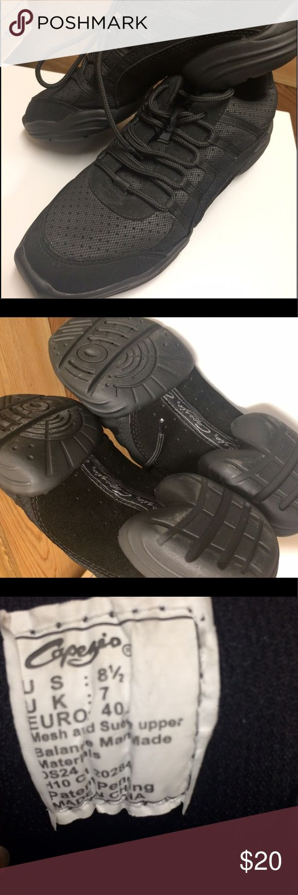 Capezio Jazz Hip Hop Dance Shoes Sneakers 8.5 Lightly worn, great condition Capezio Jazz Hip Hop Dance Shoes Sneakers 8.5. These are a reposh. The seller told me these are the same as street size but they are not. They are 1/2 small so would best fit an 8. Capezio Shoes
