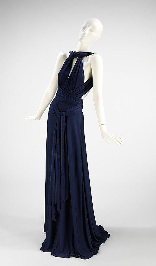 Evening Dress, Evening Gown, Splendid Evening Dress Design, Fashion Designer, Evening Dress Designer, Miracle Gown    Halston  (American, 1932–1990)  Date: ca. 1972 Culture: American Medium: silk