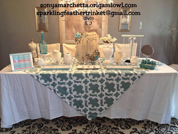 My Origami Owl Jewelry Bar Display table! In Monroe, NJ ..contact me to host a party!