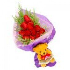 Gifts For Him, Flowers For Him, Teddy Roses