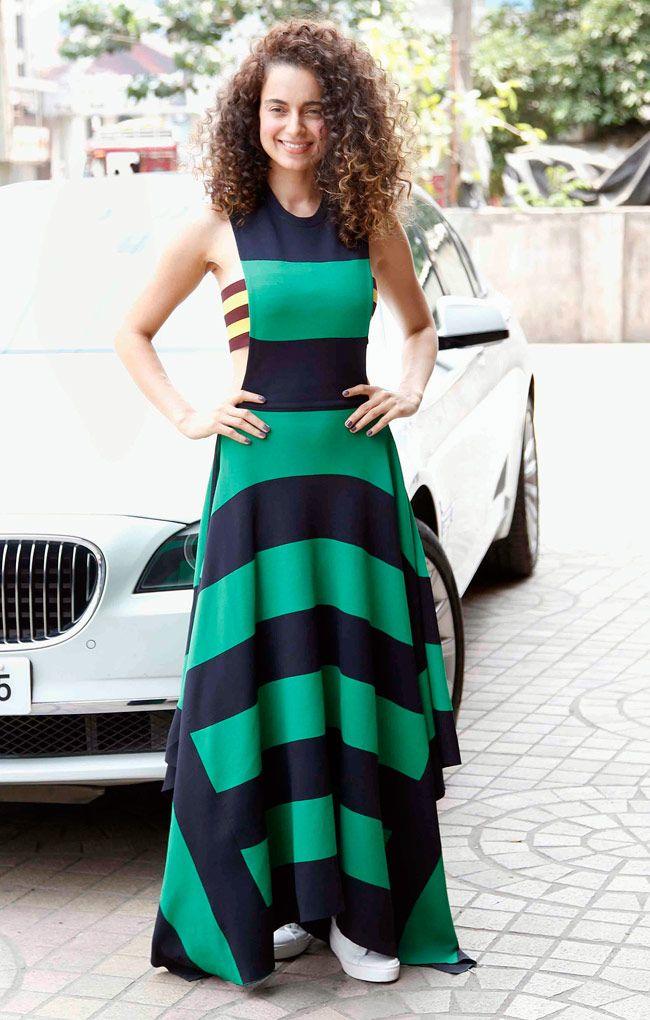 Kangana Ranaut looks stunning at trailer launch of 'Tanu Weds Manu Returns'. #Bollywood #Fashion #Style #Beauty