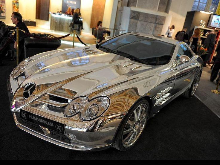 Pure White Gold Mercedes Slr Gold Mercedes Car Vehicles