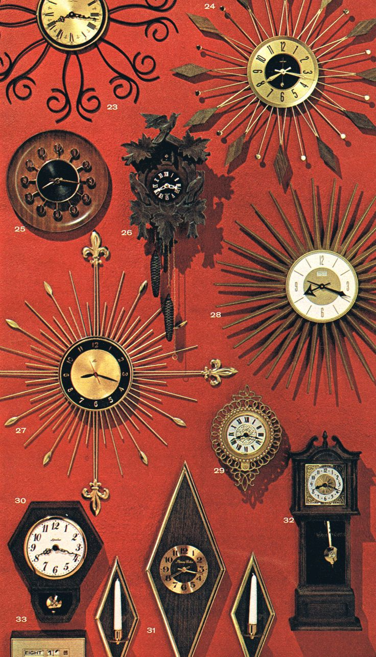 mid mod clocks .... cuckoo clock doesn't really  fit the group