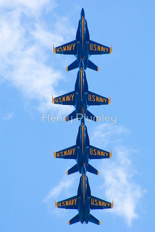 Blue Angels Stacked, belly shot