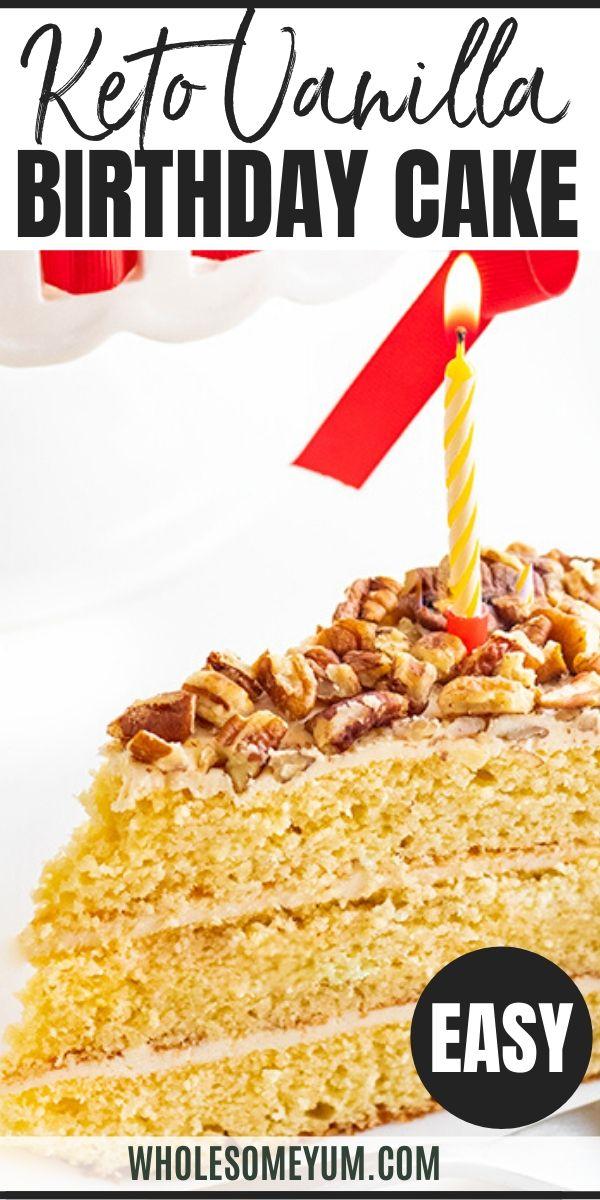 Stupendous Vanilla Gluten Free Keto Birthday Cake Recipe Sugar Free This Personalised Birthday Cards Epsylily Jamesorg