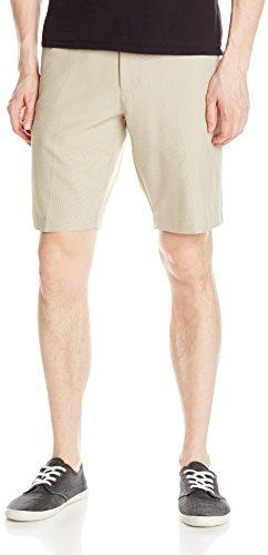 $24, Haggar Performance Micro Small Check Plain Front Short. Sold by Amazon.com. Click for more info: https://lookastic.com/men/shop_items/256312/redirect