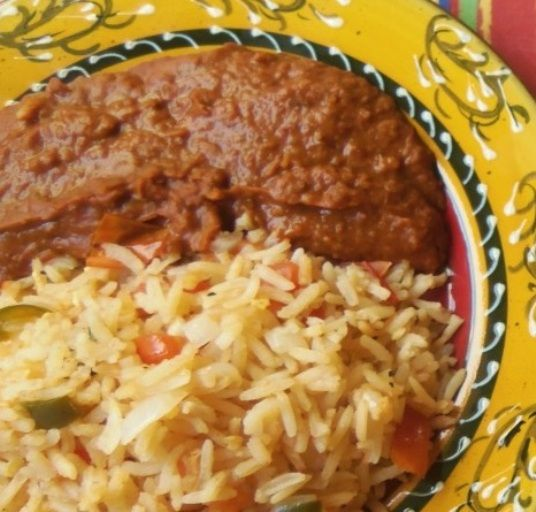 Mexican Rice with Pinto Beans HispanicKitchen.com