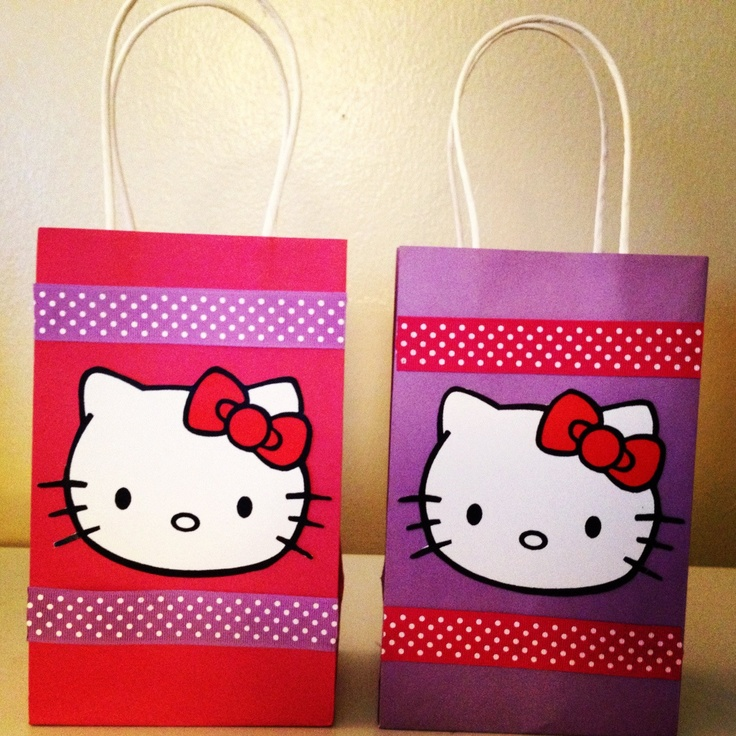 O Kitty Party Favor Goody Bags 27 00 Via Etsy
