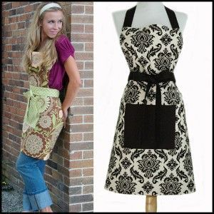 Trendy Full Apron for Women Sewing Pattern #YouCanMakeThis.com