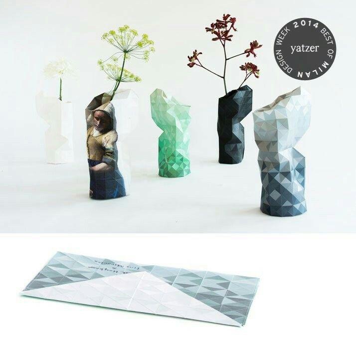 Schön Mit Dieser Faltung Vase Aus Papier Des Niederländischen Designers Pepe  Heykoop Machen Sie Selbst Im