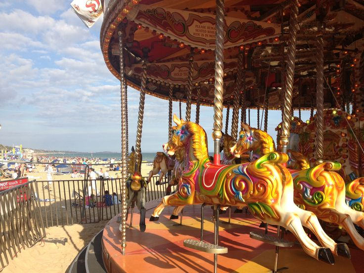 Carousal Fun at the beach!  #colour #carousal #fun #sun #fairground #beach Follow me on Twitter for more 'Right Here Right Now' curiosities!  Twitter: curious Littl Red or Instagram: curious red (no spaces and correct spelling!)
