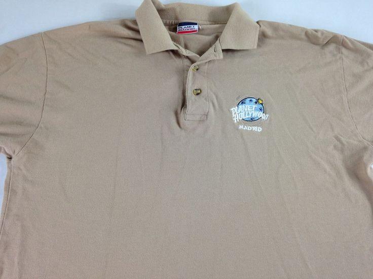 Planet Hollywood Madrid Polo Shirt 90s Spain Mens L/XL Golf Casual Cotton http://www.ebay.com/itm/-/262840090666?roken=cUgayN&soutkn=tyKfvF #vintage #stars #famous #sundays #ebay