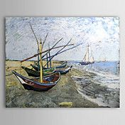 Famous Oil Painting A-fishing-boat-on-the-bea... – AUD $ 73.19