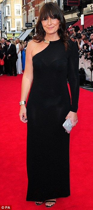 Sleek and chic: Davina McCall was also a fan of black at the ceremony