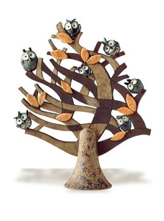 The windy tree - clay wistle by Riccardo Biavati, La Bottega delle Stelle