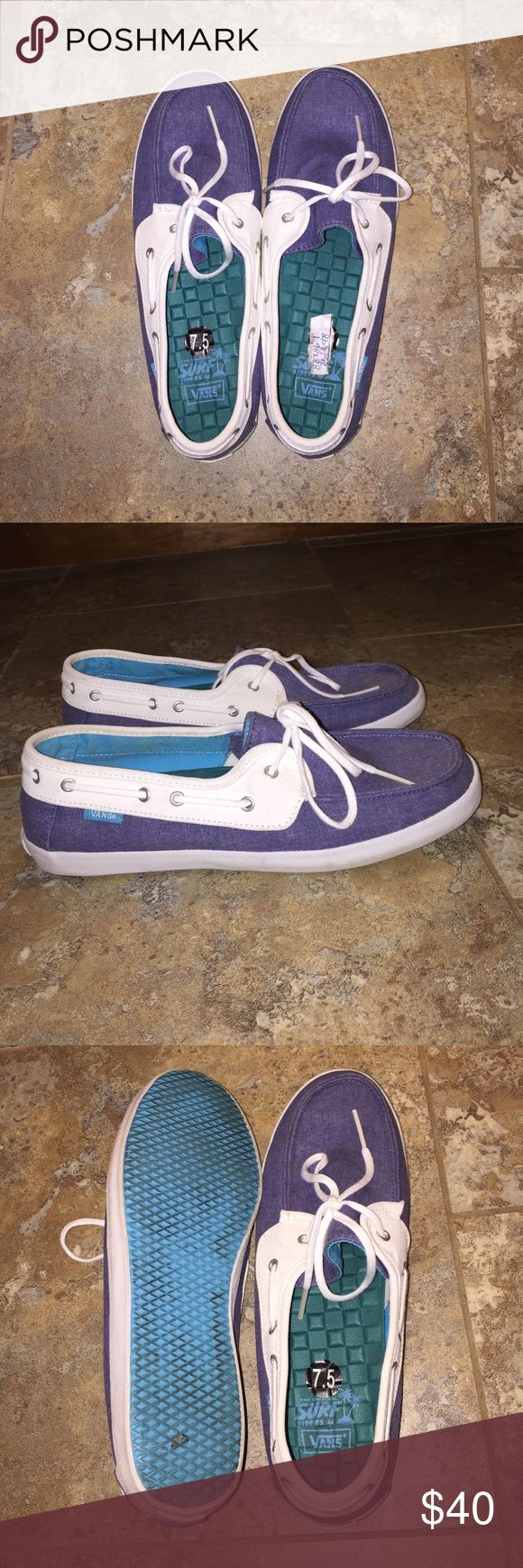 Vans boat shoes Women's size 7.5 vans boat shoes, worn twice, they just don't go with my wardrobe Vans Shoes Flats & Loafers