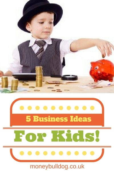 5 Business Ideas for Kids - Some kids just seem to have that entrepreneurial spirit right from the get go, a natural born desire to make some money! Sometimes all they need is an idea and they're off. So, here we have 5 business ideas for kids that are easy to start up and will have the piggy bank bursting in no time at all!