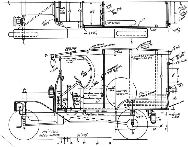 598 best auto model blueprints images on pinterest vintage cars ford model t paddy wagon 1915 smcars car malvernweather Image collections
